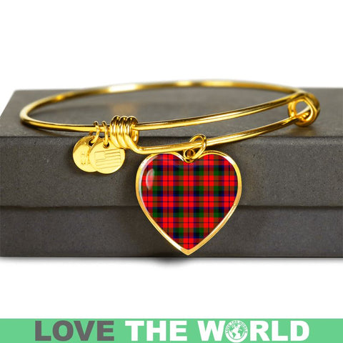 Image of Macnaughton Modern Tartan Golden Bangle - Tn Adjustable Bangle Jewelries