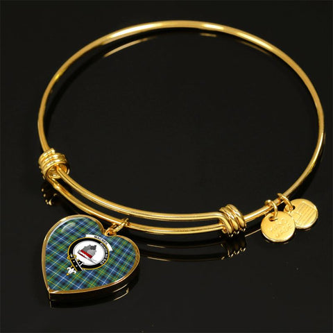 Macneill Of Barra Ancient Tartan Golden Bangle - Tn Jewelries