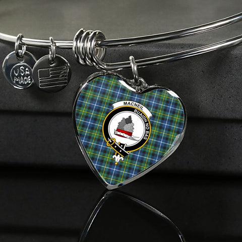 Macneill Of Barra Ancient Tartan Silver Bangle - Sd1 Luxury Bangle (Silver) Jewelries