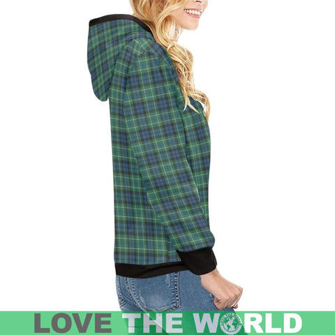 Macneill Of Colonsay Ancient Tartan High Neck  Hoodie - Bn |Clothing| 1sttheworld