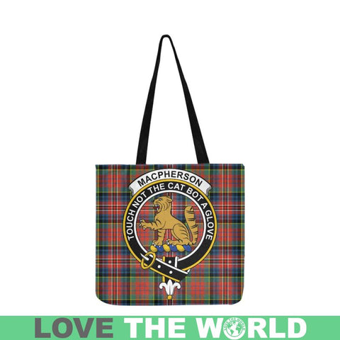 Image of Macpherson Ancient Clan Badge Tartan Eusable Shopping Bag - Hb1 Reusable Shopping Bag Model 1660