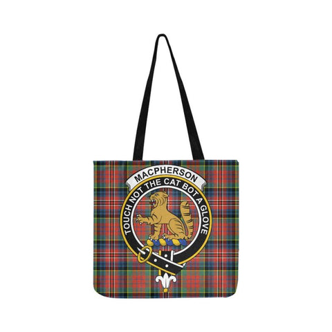 Image of Macpherson Ancient Clan Badge Tartan Reusable Shopping Bag - Hb1 Bags