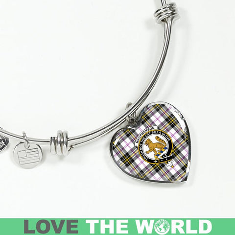 Macpherson Dress Modern Tartan Silver Bangle - Sd1 Luxury Bangle (Silver) Jewelries