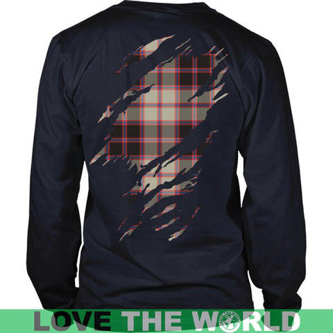 Image of Macpherson Hunting Ancient Tartan Shirt And Tartan Hoodie In Me