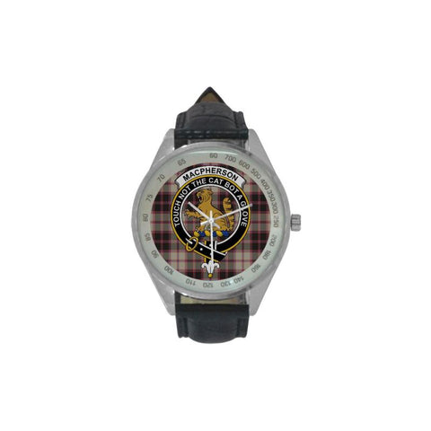 Macpherson Hunting Ancient Tartan Leather Strap Analog Watch - Hb1 Watches