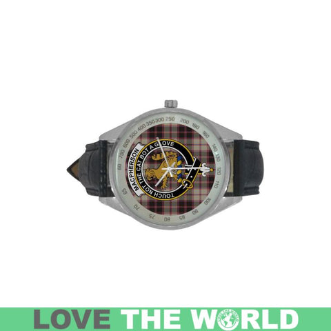 Image of Macpherson Hunting Ancient Tartan Leather Strap Analog Watch - Hb1 Watches