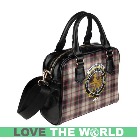Image of Macpherson Hunting Ancient Tartan Shoulder Handbag - Bn Pu Handbags