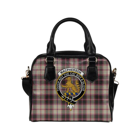 Macpherson Hunting Ancient Tartan Shoulder Handbag - Bn Pu Handbags