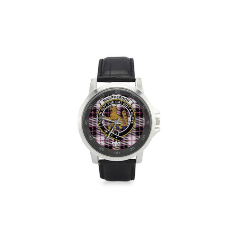 Image of Macpherson Hunting Modern Tartan Leather Strap Watch - BN03 |Accessories| 1sttheworld