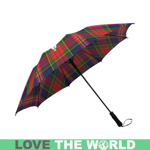 Image of Macpherson Modern Tartan Clan Badge Semi-Automatic Foldable Umbrella R1 Semi Umbrellas