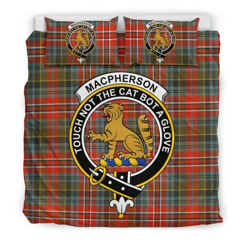 Macpherson Weathered Clan Badge Tartan Bedding Set C19 Bedding Set - Black / King Sets