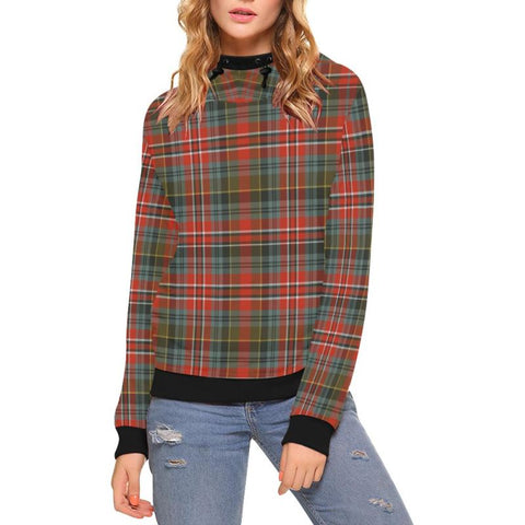 Macpherson Weathered Tartan High Neck  Hoodie - Bn |Clothing| 1sttheworld