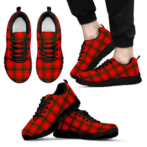 Image of Macquarrie Modern Tartan Sneakers - Bn Mens Sneakers Black 1 / Us5 (Eu38)