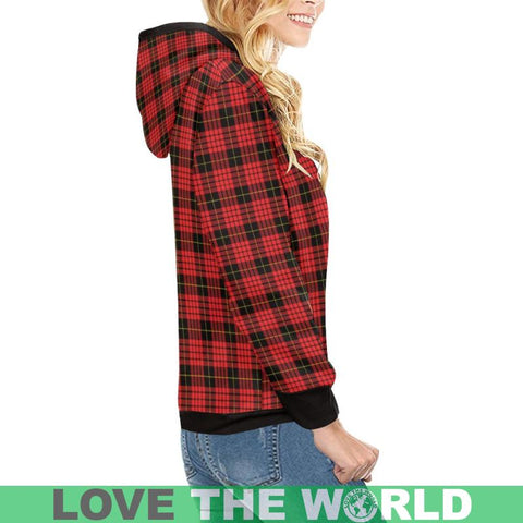 Macqueen Modern Tartan High Neck  Hoodie - Bn |Clothing| 1sttheworld