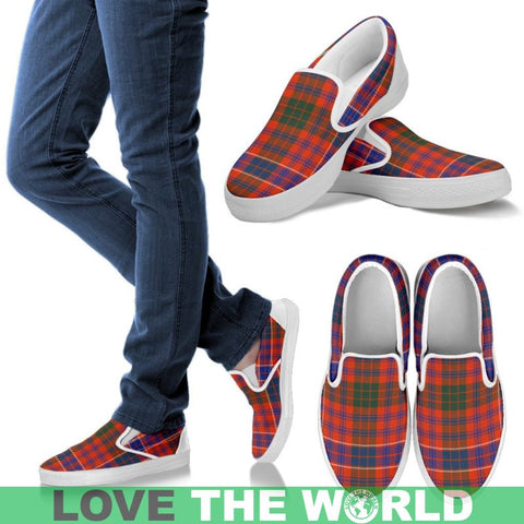 Image of Macrae Ancient Tartan Slip Ons Mens Slip Ons - White / Us8 (Eu40)