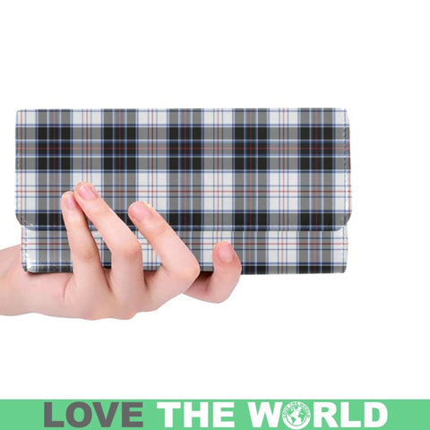 Macrae Dress Modern Tartan Trifold Wallet V4 One Size / Macrae Dress Modern Black Womens Trifold