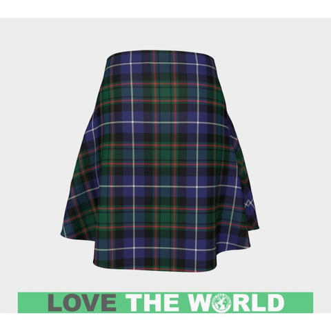 Image of Tartan Skirt - Macrae Hunting Modern Women Flared Skirt A9 |Clothing| 1sttheworld