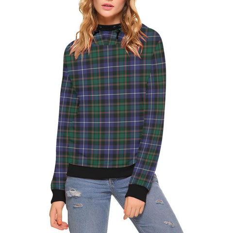 Macrae Hunting Modern Tartan High Neck  Hoodie - Bn |Clothing| 1sttheworld