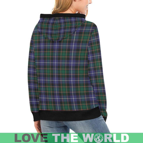 Image of Macrae Hunting Modern Tartan High Neck  Hoodie - Bn |Clothing| 1sttheworld