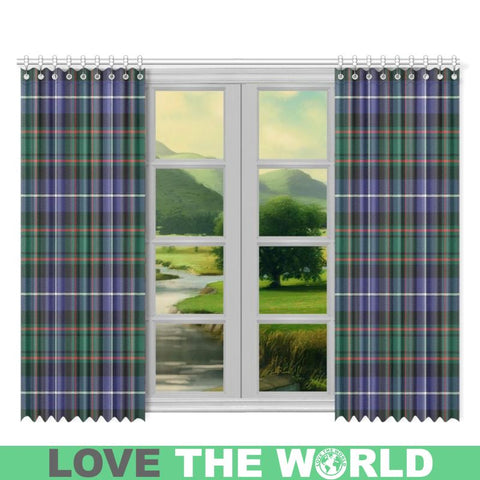 Image of Macrae Hunting Modern Tartan Window Curtain Tk1 Curtains