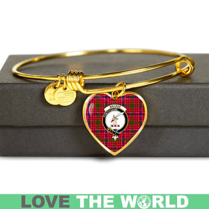 Macrae Modern Tartan Golden Bangle - BN