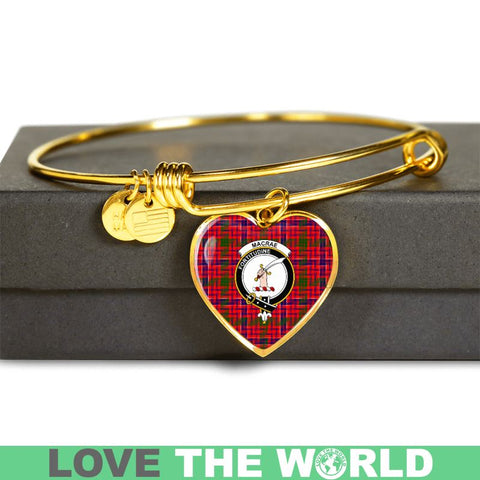 Macrae Modern Tartan Golden Bangle - Tn Adjustable Bangle Jewelries