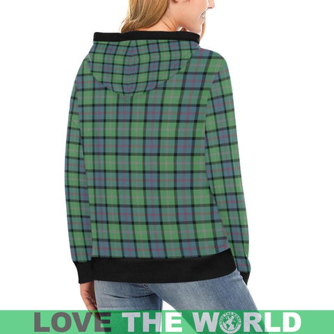 Macthomas Ancient Tartan High Neck  Hoodie - Bn |Clothing| 1sttheworld