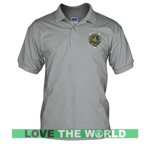Macthomas Badge Men Tartan Polo Shirt | Over 300 Clans Tartan | Special Custom Design | Love Scotland