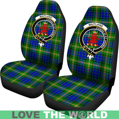 Image of Maitland Clan Badges Tartan Car Seat Cover Ha5