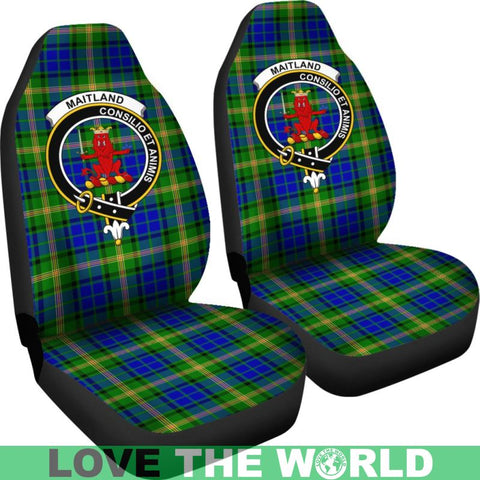 Maitland Clan Badges Tartan Car Seat Cover Ha5
