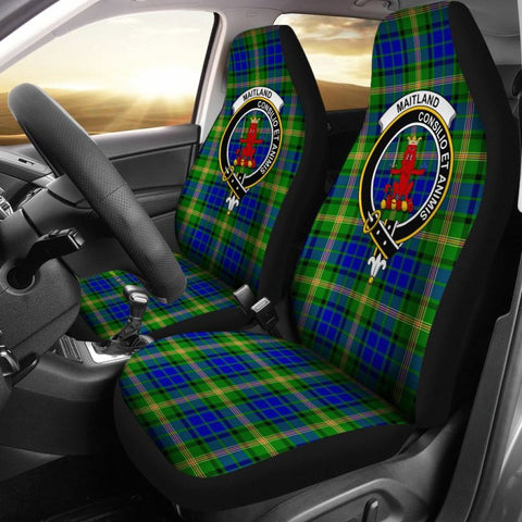 Maitland Tartan Car Seat Cover - Clan Badge