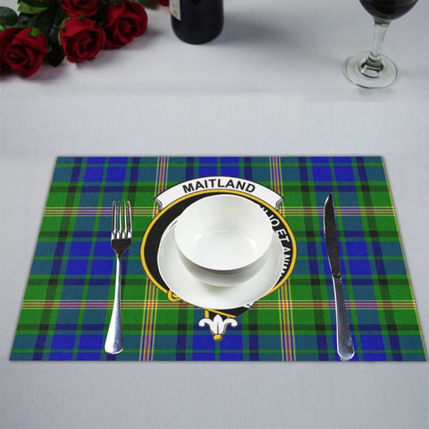 Image of Maitland Logo Tartan Placemat 14 Inch X 19 (Six Pieces) - Tk1 Placemats