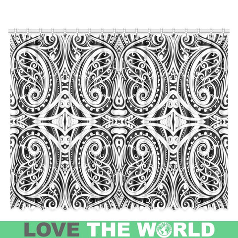Image of Maori Pattern 10 Window Curtain - Sd1 One Size / 52X120 Window Curtain 52X120(Two Piece) Curtains