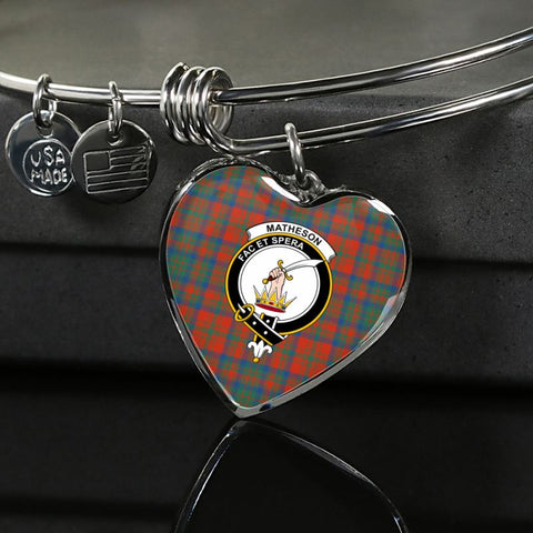 Matheson Ancient Tartan Silver Bangle - Sd1 Luxury Bangle (Silver) Jewelries