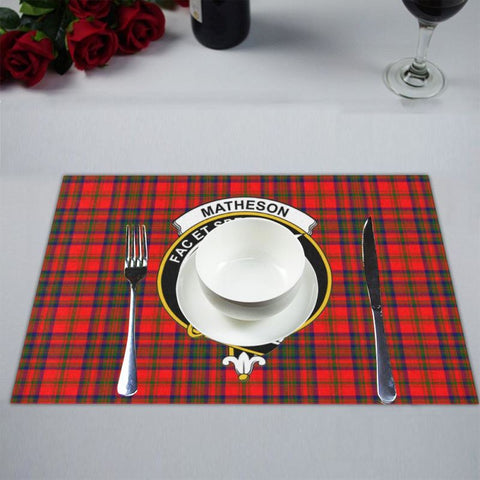 Matheson Modern Logo Tartan Placemat 14 Inch X 19 (Six Pieces) - Tk1 Placemats