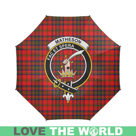 Matheson Modern Tartan Clan Badge Semi-Automatic Foldable Umbrella R1 Semi Umbrellas