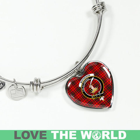 Matheson Tartan Silver Bangle - Sd1 Jewelries