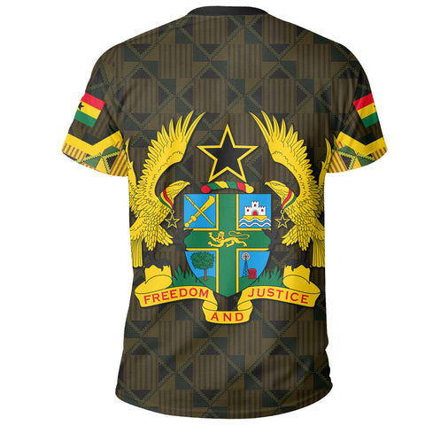 Ghana Coat Of Arm Kente T-Shirt - J4