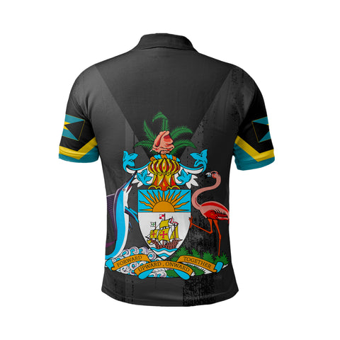 Bahamas Flag Coat Of Arm Polo Shirt - J4