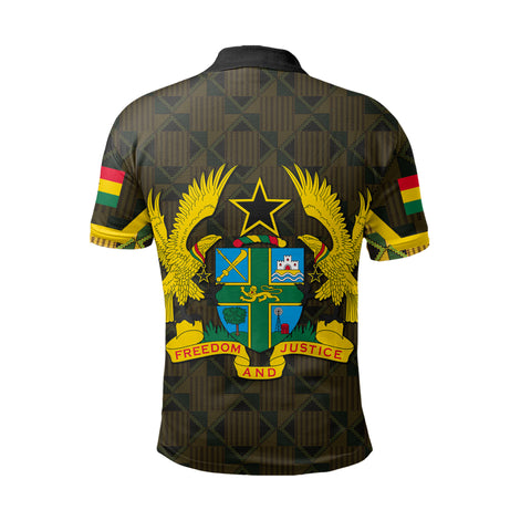 Ghana Coat Of Arm Kente Polo Shirt - J4