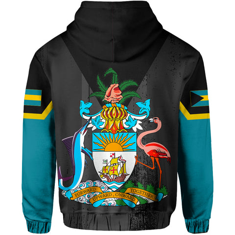Bahamas Flag Coat Of Arm Hoodie - J4
