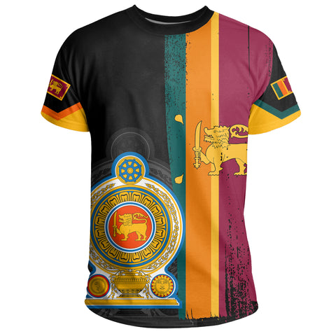 Sri Lanka Coat Of Arm Flag T-shirt - AH - J4