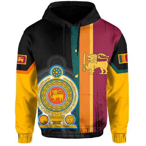 Sri Lanka Coat Of Arm Flag Hoodie - AH - J4