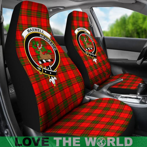 Maxwell Clan Badges Tartan Car Seat Cover Ha5