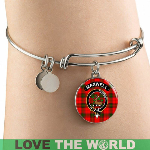 Maxwell Clan Tartan Silver (Necklace/Bangle)  A9 |Accessories| 1sttheworld