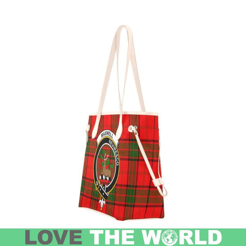 Image of Maxwell Modern Tartan Clan Badge Clover Canvas Tote Bag S5 Bags