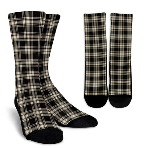 Menzies Black & White Ancient Tartan Socks, scotland socks, scottish socks, Xmas, Christmas, Gift Christmas, noel, christmas gift, tartan socks, clan socks, crew socks, warm socks