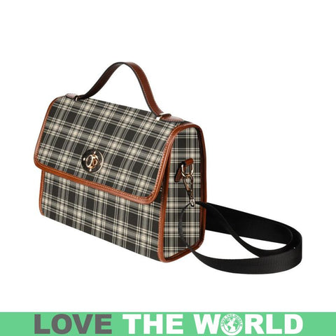 Menzies Black - White Ancient Tartan Plaid Canvas Bag | Online Shopping Scottish Tartans Plaid Handbags
