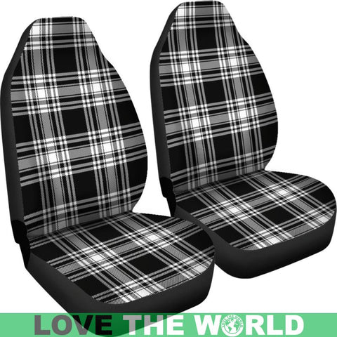 Menzies Black _ White Modern Tartan Car Seat Cover Nl25