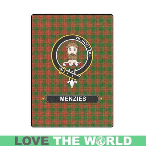 Menzies Tartan Blanket | Clan Crest | Shop Home Decor